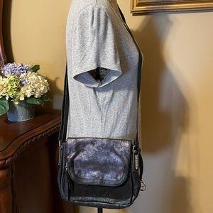 JESSICA SIMPSON Black & Metallic Crossbody Bag